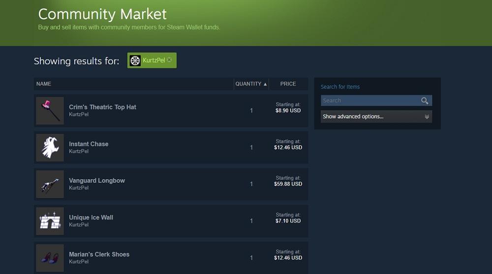 Steam Comm Market