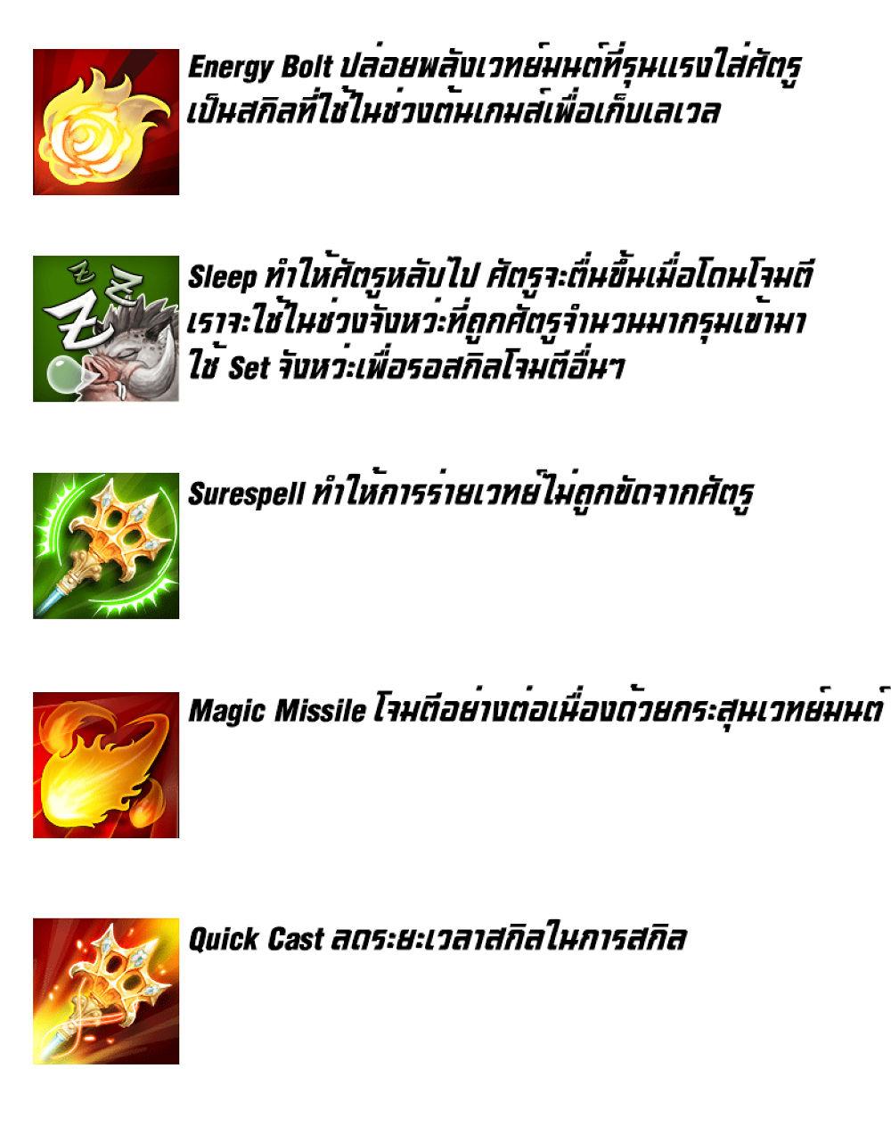 Tree of savior Top Build สายอาชีพ Wizard : playulti com